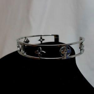 Louis Vuitton Logo Cuff Bracelet